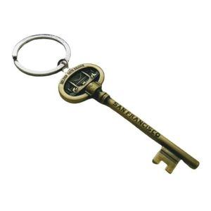 *San Francisco* Brass Key collectible keychain